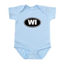 Wisconsin WI Euro Oval Infant Bodysuit
