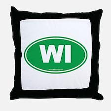 Wisconsin WI Euro Oval Throw Pillow