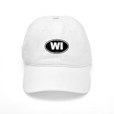 Wisconsin WI Euro Oval Baseball Cap