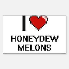 I love Honeydew Melons digital design Decal