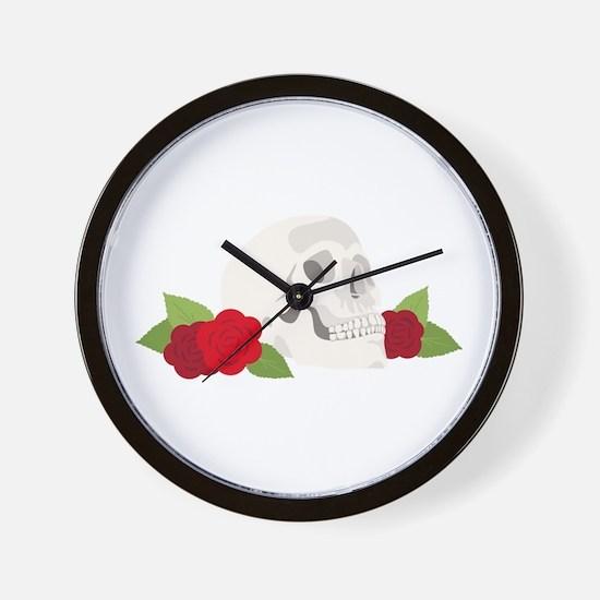 Hamlet Skull Wall Clock