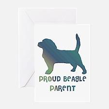 Proud Beagle Parent Greeting Card
