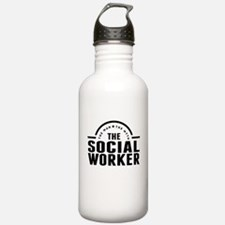 The Man The Myth The Social Worker Water Bottle
