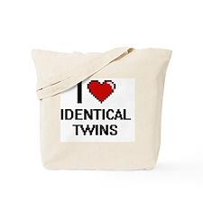 I love Identical Twins digital design Tote Bag