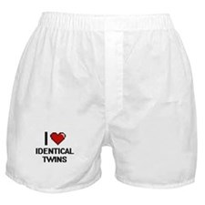 I love Identical Twins digital design Boxer Shorts