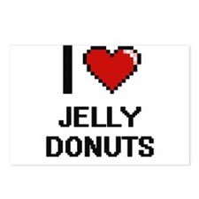 I love Jelly Donuts digit Postcards (Package of 8)