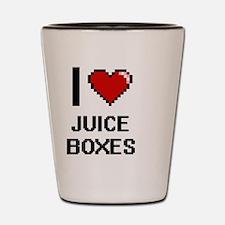 I love Juice Boxes digital design Shot Glass
