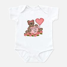 My Cousins Love Me CUTE Bear Infant Bodysuit