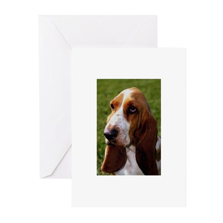 Basset Hound Greeting Cards (Pk of 20)