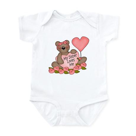 My Sister Loves Me CUTE Bear Infant Bodysuit