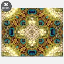 Peacock Glow Cross Puzzle