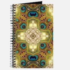 Peacock Glow Cross Journal