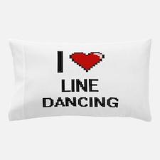 I love Line Dancing digital design Pillow Case