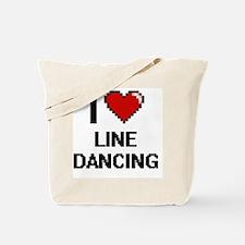 I love Line Dancing digital design Tote Bag