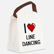 I love Line Dancing digital desig Canvas Lunch Bag