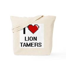 I love Lion Tamers digital design Tote Bag
