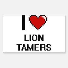 I love Lion Tamers digital design Decal