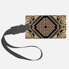Art Deco Black Gold 1 Luggage Tag