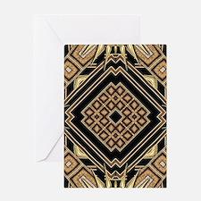Art Deco Black Gold 1 Greeting Cards