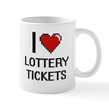 I love Lottery Tickets digital design Mugs