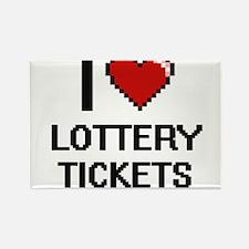 I love Lottery Tickets digital design Magnets