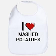 I love Mashed Potatoes digital design Bib