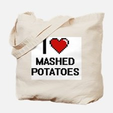 I love Mashed Potatoes digital design Tote Bag