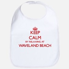 Keep calm by relaxing at Waveland Beach Missis Bib