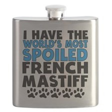 Worlds Most Spoiled French Mastiff Flask