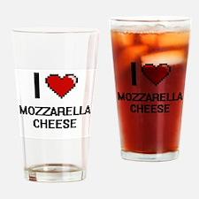 I love Mozzarella Cheese digital de Drinking Glass