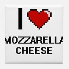 I love Mozzarella Cheese digital desi Tile Coaster