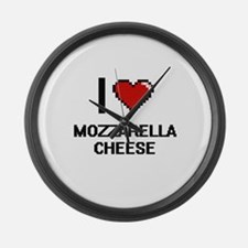I love Mozzarella Cheese digital Large Wall Clock