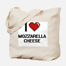 I love Mozzarella Cheese digital design Tote Bag