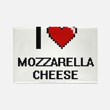 I love Mozzarella Cheese digital design Magnets