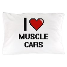 I love Muscle Cars digital design Pillow Case