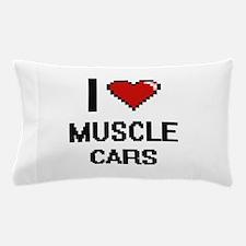 I love Muscle Cars digital design Pillow Case