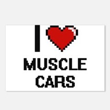 I love Muscle Cars digita Postcards (Package of 8)