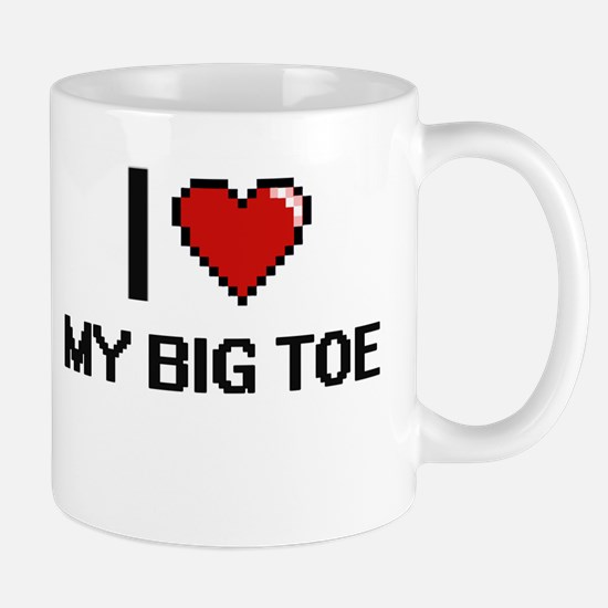 I love My Big Toe digital design Mugs