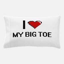 I love My Big Toe digital design Pillow Case