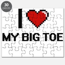 I love My Big Toe digital design Puzzle