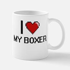 I love My Boxer digital design Mugs