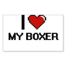 I love My Boxer digital design Decal