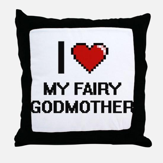 I love My Fairy Godmother digital des Throw Pillow