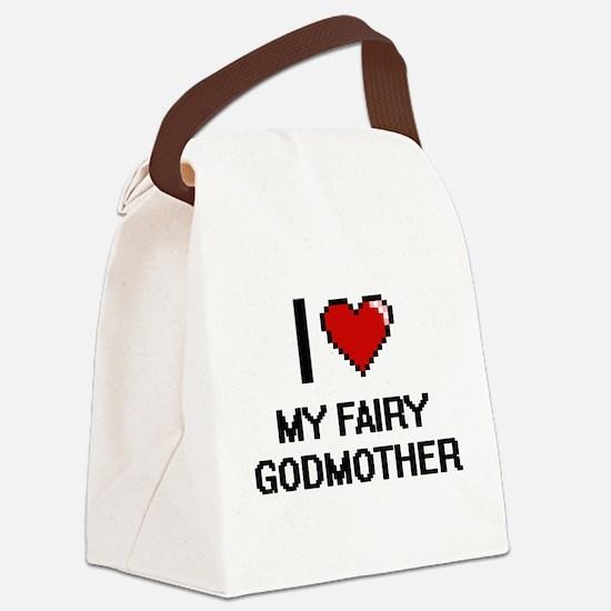 I love My Fairy Godmother digital Canvas Lunch Bag