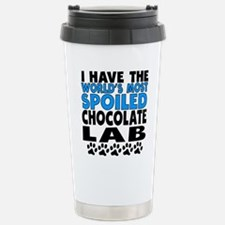 Worlds Most Spoiled Chocolate Lab Travel Mug