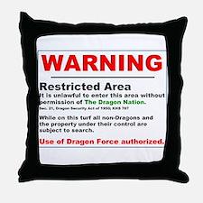 Dragon Force Warning Throw Pillow