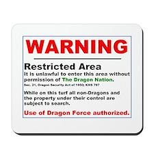 Dragon Force Warning Mousepad