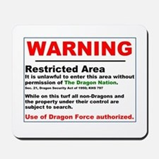 Dragon Force Warning Mousepad