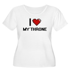 I love My Throne digital design Plus Size T-Shirt