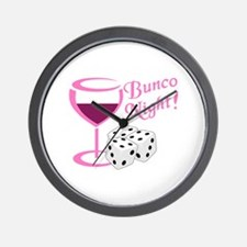 BUNCO NIGHT Wall Clock